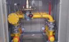 Double lines gas regulator for boiler